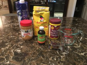 Ingredients for the Peanut Butter Cookie Recipe for Pets