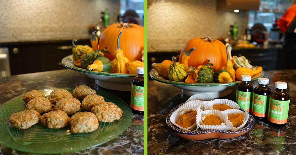 thanksgiving recipe for pets. Turkey patties and pumpkin pie tarts